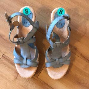 B.O.C size 8 blue wedge Sandals NWOT-summer ready!